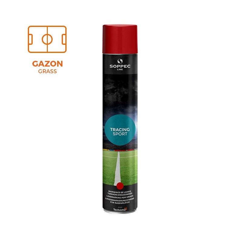 Peinture traçage pour gazon TRACING SPORT Soppec rouge