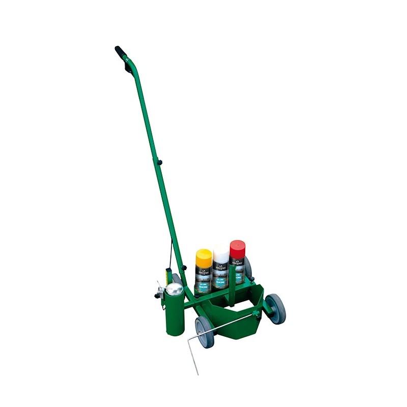 Chariot de traçage de lignes avec porte aérosol Soppec