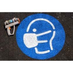 Floor marking stencils