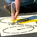 Floor marking stencils